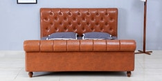 Edwin King Size Bed in Honey Oak Finish