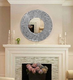 Kiara Hand-Crafted Decorative Round Wall Mirror