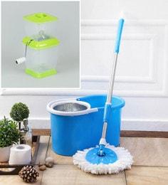 Kingsburry Blue Mop Set With Onion Chopper