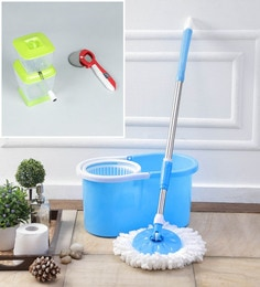 Kingsburry Plastic Blue Mop With Free Onion Chopper & Pizza Cutter