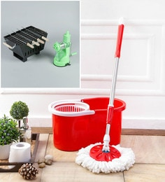 Kingsburry Plastic Red Mop With Free Barbeque & Juicer