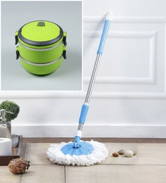 Kingsburry Steel Blue Mop Rod With Free Lunch Box