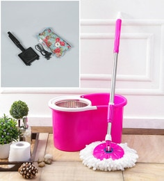 Kingsburry Steel Pink Mop With Free Heating Pad & Gas Toaster