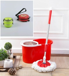 Kingsburry Steel Red Mop With Free Roti Maker & Lunch Box
