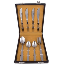 Kishco Limited Crescent Stainless Steel Cutlery Set - Set Of 16