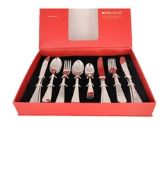 Kishco Limited Fiesta Stainless Steel Cutlery Set - Set Of 24