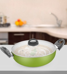 Kitchen Chef Natura Deep Kadai With Glass Lid 260 Mm