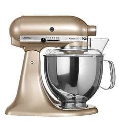 KitchenAid Artisan Design Series 4.8L Tilt-Head Stand Mixer In Golden Nectar (5KSM150PSBCZ)