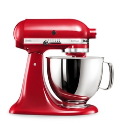 KitchenAid Artisan Design Series 4.8L Tilt-Head Stand Mixer In Candy Apple (5KSM150PSDCA)