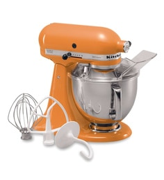 KitchenAid Artisan Design Series 4.8L Tilt-Head Stand Mixer In Tangerine (5KSM150PSDTG)
