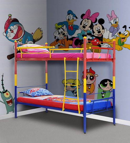 premium selection c2f09 1a532 Barcelona Kids Bunk Bed in Multicolour by FurnitureKraft