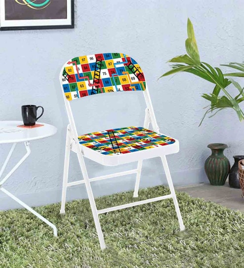 Superb Kids Designer Metal Folding Chair In White Matt Colour By Nutcase Caraccident5 Cool Chair Designs And Ideas Caraccident5Info