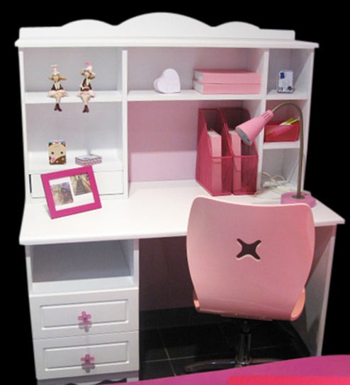 KinderHomes White and Pink Study Table by KinderHomes Online - Study ...