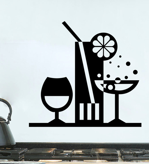 In this kitchen we vinyl Decal for home cars walls cups bumper stickers glass