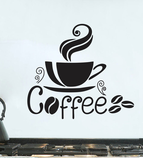 buy kitchen coffee cup wall sticker & decalstickeryard online