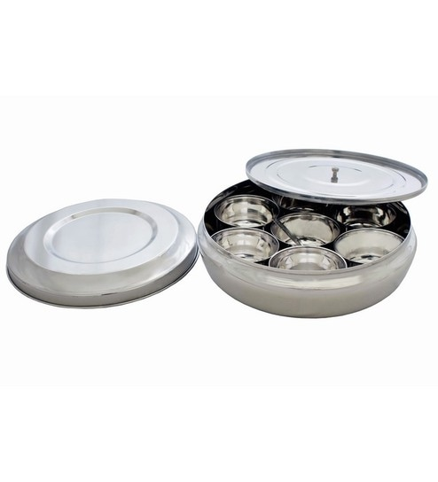 Kitchen Krafts Le Silver Stainless Steel 1 L Storage Container