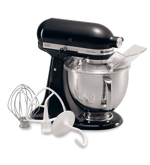 KitchenAid Artisan Design Series 4.8L Tilt-Head Stand Mixer In Onyx Black (5KSM150PSDOB)