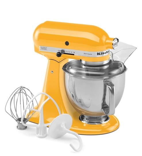 KitchenAid Artisan Design Series 4.8L Tilt-Head Stand Mixer In Yellow Pepper (5KSM150PSDYP)
