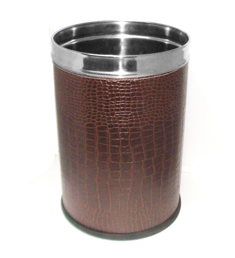 King International Brown 5 L Open Dustbin
