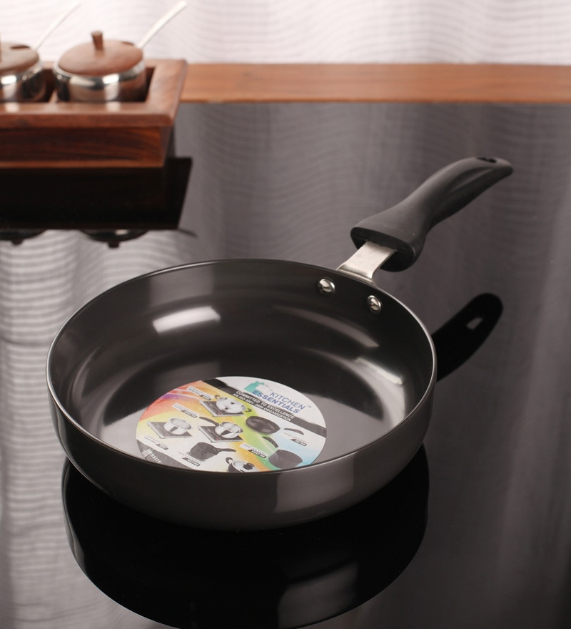 Aluminium 9 Inch Hard Anodised Deep Fry Pan by Kitchen Essentials