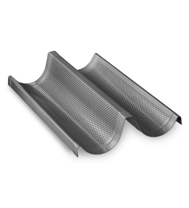 [DIWALI DISCOUNT - 10% OFF] KitchenAid Professional-Grade Nonstick Double Baguette Loaf KBNSO2XBL
