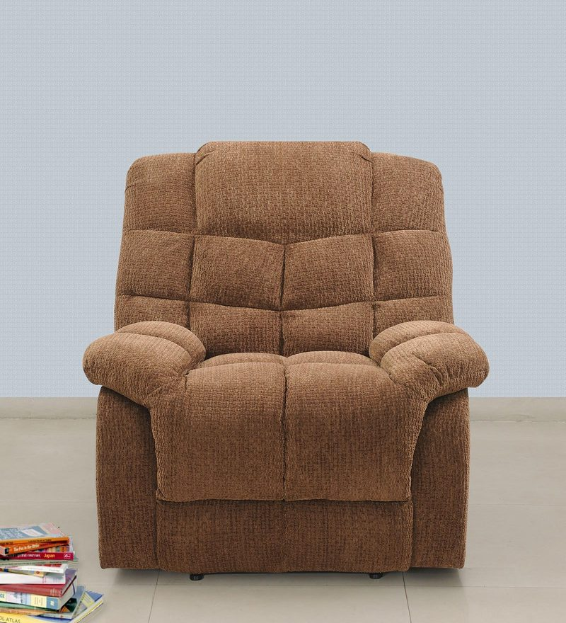 Kiwi One Seater Recliner in Brown Colour by Royal Oak