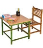 Kids Study Table Chair Set in Beige Colour by ExclusiveLane