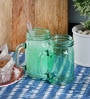 Kilner Blue Glass 500 ML Round Jar - Set of 2
