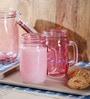 Kilner Pink Glass 400 ML Mug - Set of 2