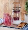 Kilner Pink Glass 3-piece Mug Set of 3