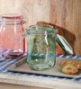 Kilner Green Glass 1000 ML Round Jar