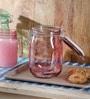 Kilner Pink Glass 1000 ML Round Jar