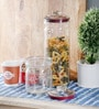 Kilner Pustop Clear Glass Storage Jar - Set of 2