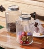 Kilner Perserve Clear Glass 1000 ML Cylindrical Vintage Jar Set