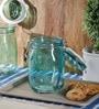 Kilner Green Glass Square 1000 ML Jar Set of 2