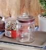 Kilner Pustop Clear Glass 1000 ML Round Storage Jar