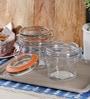 Kilner Cliptop Clear Glass 125 ML Round Jar - Set of 2