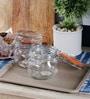Kilner Cliptop Clear Glass 500 ML Round Jar Set of 2