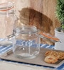 Kilner Cliptop Clear Glass Square 1000 ML Jar Set of 2