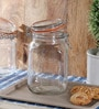 Kilner Cliptop Clear Glass Square 1500 ML Jar Set of 2