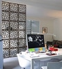Wenge Acrylic with Wooden Lamination Straight Grained Room Divider by Planet Decor