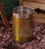 King International Gold Steel 5 L Dustbin