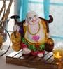 King International Multicolour Polyresin Sleeping Buddha Religious Idol Statue
