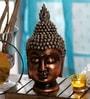 King International Royal Black & Gold Polyresin Resting Buddha Religious Idol Statue