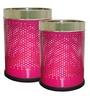 King International Pink Steel 5 L, 7 L Dustbin Set of 2