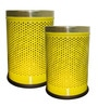 King International Yellow Steel 5 L, 7 L Dustbin Set of 2