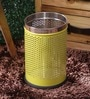King International Yellow Steel 8 L Dustbin