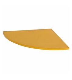 Klaxon Yellow Glass Decor  Corner Shelves - Set Of 3