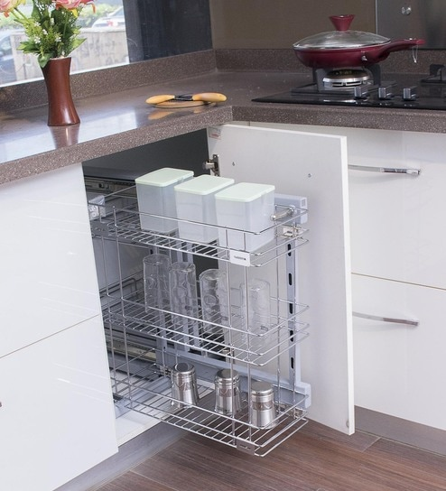 Klaxon Stainless Steel Triple Kitchen Basket