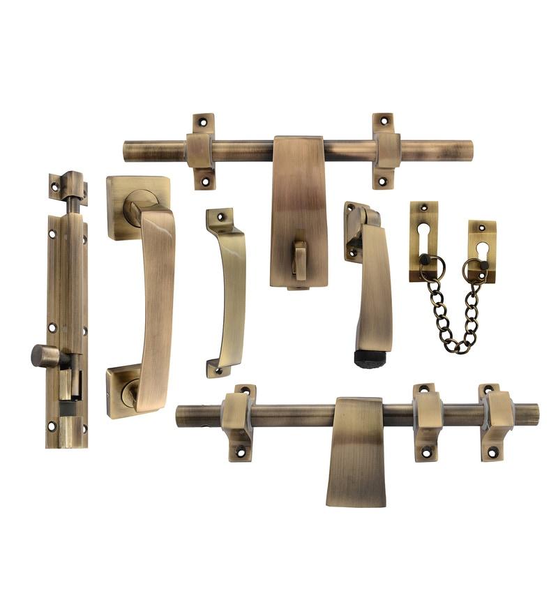 Klaxon Decent Brass Door Kit - Set of 7